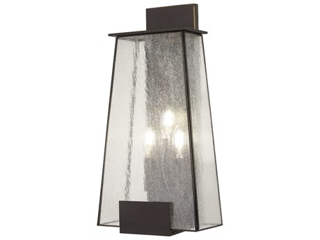 Minka Lavery Bistro Dawn Dakota Bronze Glass Outdoor Wall Light