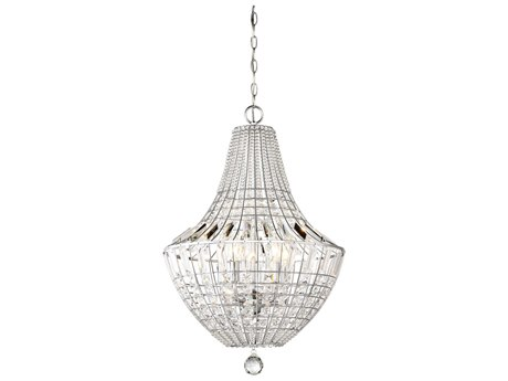 Minka Lavery Braiden Chrome 18'' Wide Crystal Pendant MGO234577