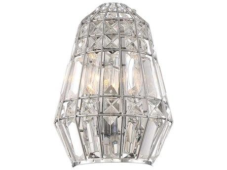 Minka Lavery Braiden Chrome Crystal Wall Sconce MGO234277