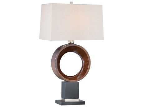 Minka Lavery Walnut, Black & Brushed Nickel Buffet Lamp MGO100400