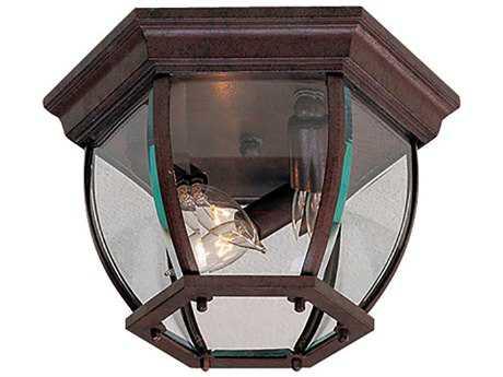 Minka Lavery Antique Bronze Glass Outdoor Ceiling Light