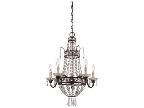Minka Lavery Deep Lathan Bronze 20'' Wide Glass Medium Chandelier MGO3136167B