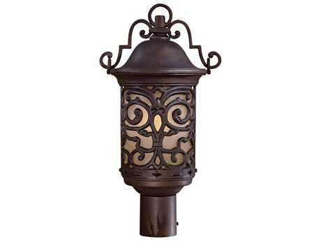 Minka Lavery Chelesa Road Chelsea Bronze Glass Outdoor Post Light MGO9195189PL