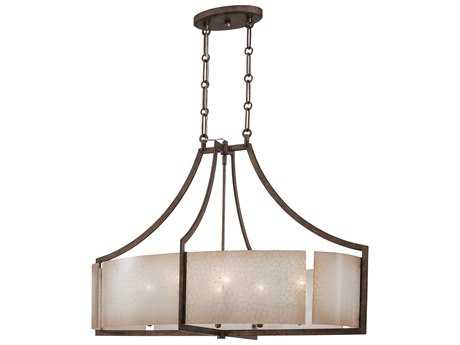 Minka Lavery Clarte Patina Iron 36''L x 21'' Wide Glass Island Light