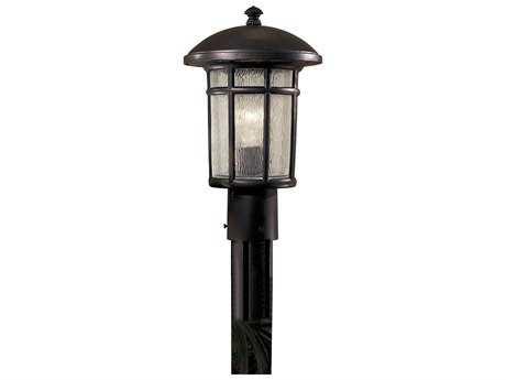 Minka Lavery Cranston Heritage Glass Outdoor Post Light