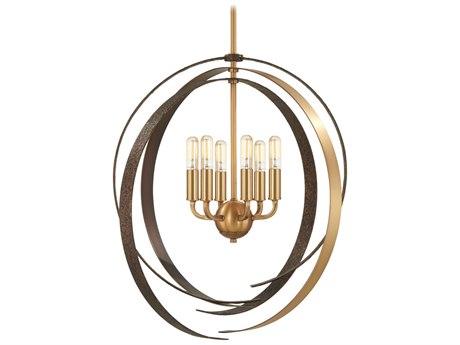 Minka Lavery Criterium Aged Brass / Textured Iron 24'' Wide Medium Chandelier