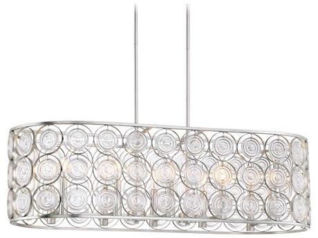 Minka Lavery Culture Chic Catalina Silver 40'' Wide Glass Island Light MGO4669598