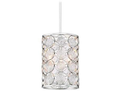 Minka Lavery Culture Chic Catalina Silver 9'' Wide Glass Mini Chandelier MGO3663598