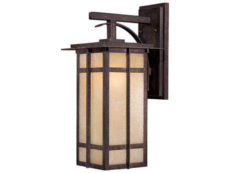 Minka Lavery Delancy Iron Oxide Glass Outdoor Wall Light