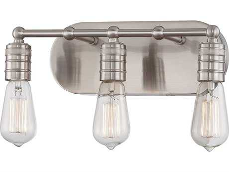 Minka Lavery Downtown Edison Brushed Nickel Industrial Vanity Light MGO513584