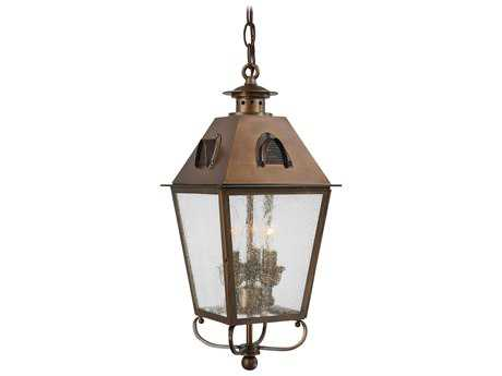 Minka Lavery Edenshire English Brass Glass Outdoor Hanging Light