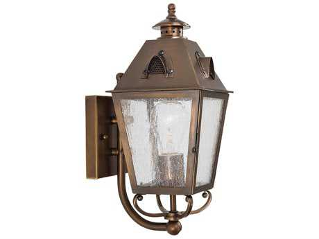 Minka Lavery Edenshire English Brass Outdoor Wall Light