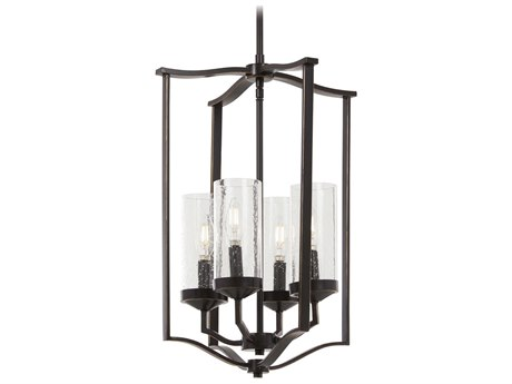 Minka Lavery Elyton Downton Bronze / Gold Highlight 15'' Wide Glass Mini Chandelier MGO4658579