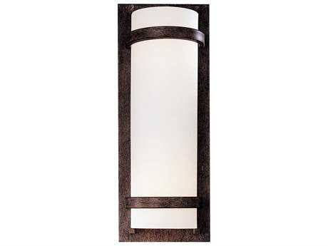 Minka Lavery Fieldale Lodge Iron Oxide Glass Wall Sconce
