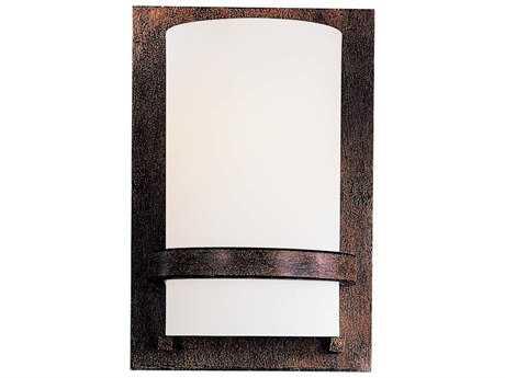 Minka Lavery Fieldale Lodge Iron Oxide Glass Wall Sconce MGO342357PL