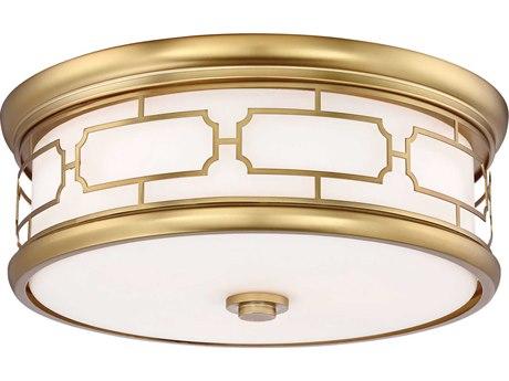 Minka Lavery Liberty Gold 16'' Wide Glass Flush Mount Light MGO826249