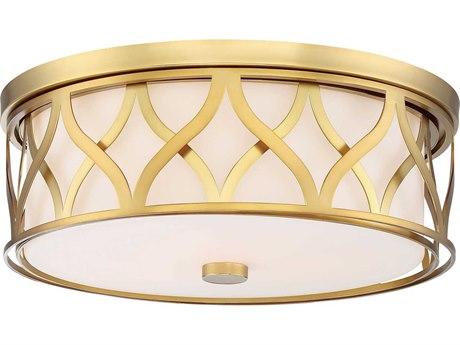 Minka Lavery Liberty Gold 16'' Wide Glass Flush Mount Light