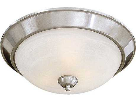 Minka Lavery Brushed Nickel 15'' Wide Glass Flush Mount Light MGO89384