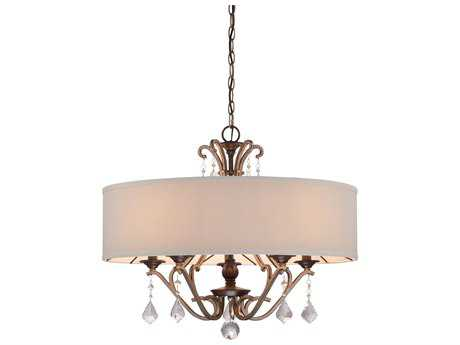 Minka Lavery Gwendolyn Place Dark Rubbed Sienna with Aged Silver 26'' Wide Medium Chandelier