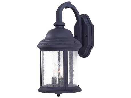 Minka Lavery Hancock Black Glass Outdoor Wall Light