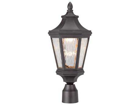 Minka Lavery Handford Pointe Oil Rubbed Bronze Glass LED Outdoor Post Light