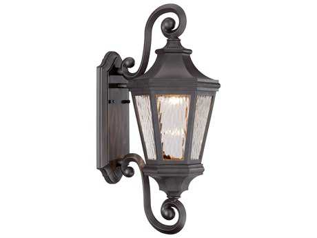 Minka Lavery Handford Pointe Oil Rubbed Bronze Glass LED Outdoor Wall Light