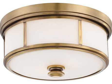 Minka Lavery Harbour Point Liberty Gold 13'' Wide Glass Flush Mount Light MGO4365249