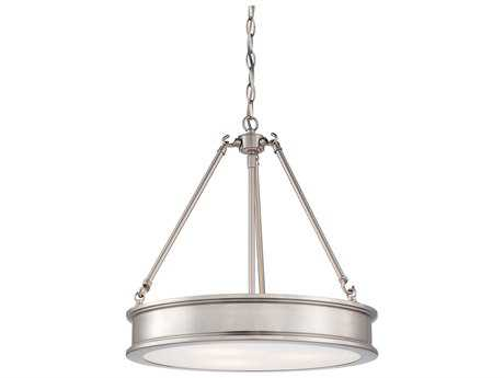 Minka Lavery Harbour Point Brushed Nickel 19'' Wide Pendant MGO417384