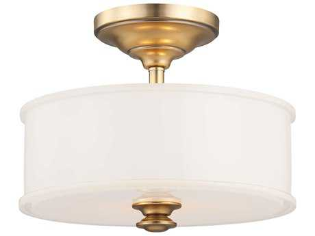 Minka Lavery Harbour Point Liberty Gold 13'' Wide Glass Semi-Flush Mount MGO4172249