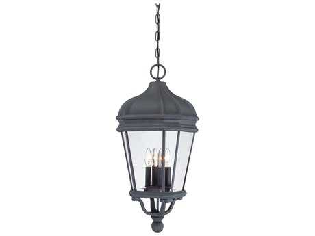 Minka Lavery Harrison Black Glass Outdoor Hanging Light