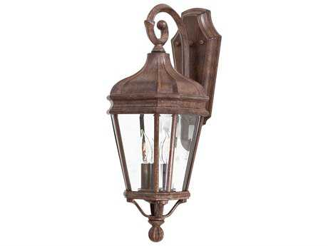Minka Lavery Harrison Vintage Rust Glass Outdoor Wall Light