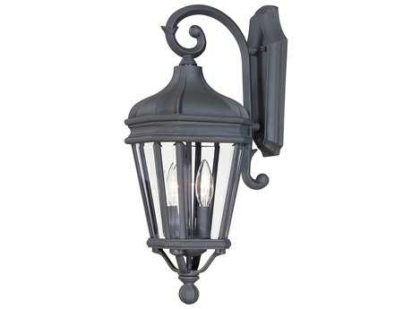 Minka Lavery Harrison Black Glass Outdoor Wall Light