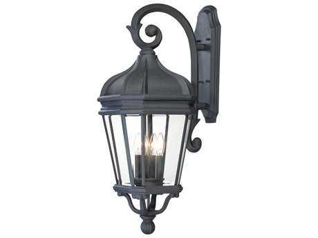 Minka Lavery Harrison Black Glass Outdoor Wall Light