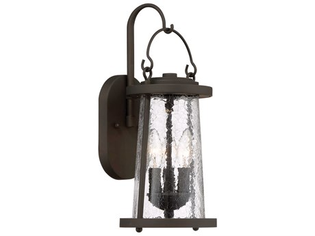 Minka Lavery Haverford Grove Oil Rubbed Bronze Glass Industrial Outdoor Wall Light