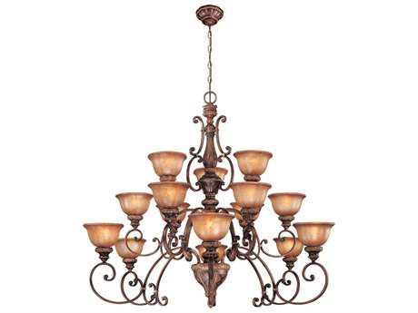 Minka Lavery Illuminati Bronze 52'' Wide Glass Large Chandelier MGO1359177