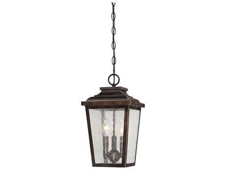 Minka Lavery Irvington Manor Chelesa Bronze Glass Outdoor Hanging Light