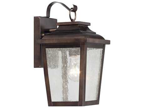 Minka Lavery Irvington Manor Chelesa Bronze Glass Outdoor Wall Light