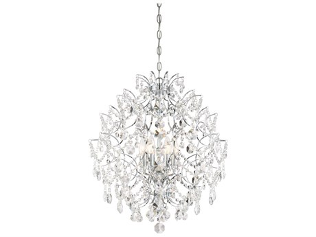 Minka Lavery Isabella Crown Chrome 22'' Wide Crystal Pendant