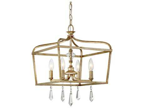 Minka Lavery Laurel Estate Brio Gold Glass Pendant Semi-Flush Mount MGO4447582
