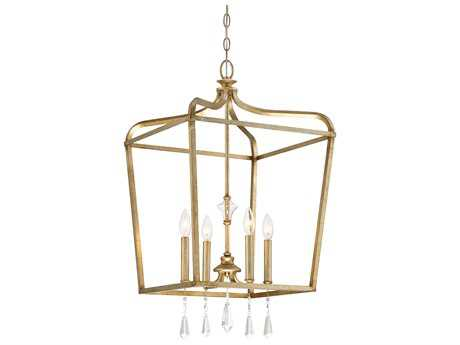 Minka Lavery Laurel Estate Brio Gold Glass Pendant Semi-Flush Mount MGO4448582