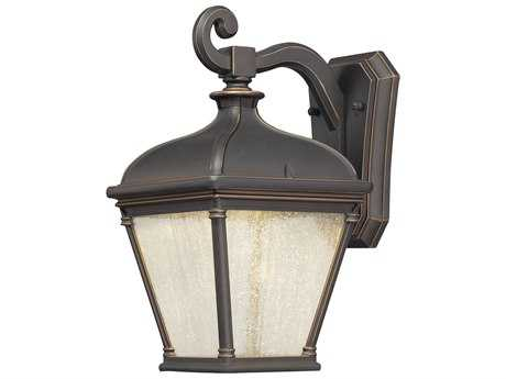 Minka Lavery Lauriston Manor Oil Rubbed Bronze with Gold Highlights Glass LED Outdoor Wall Light MGO72392143C