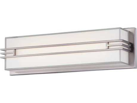 Minka Lavery Level Brushed Nickel Glass LED Vanity Light MGO294284L