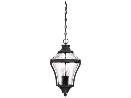 Minka Lavery Libre Black Glass Outdoor Hanging Light MGO7256466
