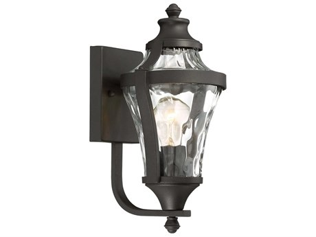 Minka Lavery Libre Black Glass Outdoor Wall Light