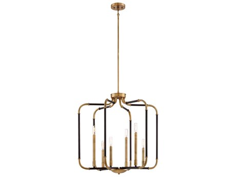 Minka Lavery Liege Aged Kinston Bronze with Brass Highlights 25'' Wide Industrial Pendant MGO4066660