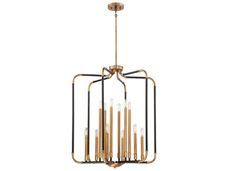 Minka Lavery Liege Aged Kinston Bronze / Brass Highlight 28'' Wide Pendant