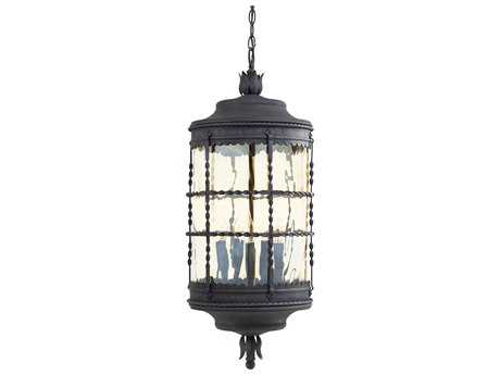 Minka Lavery Mallorca Spanish Iron Glass Outdoor Hanging Light