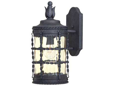 Minka Lavery Mallorca Spanish Iron Glass Outdoor Wall Light