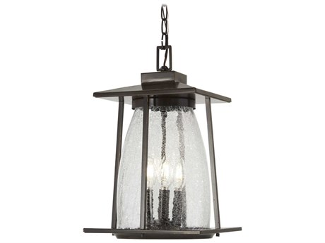 Minka Lavery Marlboro Oil Rubbed Bronze / Gold Highlight Glass Outdoor Hanging Light MGO72574143C
