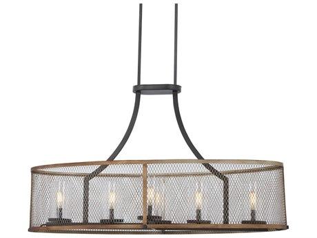 Minka Lavery Marsden Commons Smoked Iron / Aged Gold 40'' Wide Glass Island Light MGO4696107